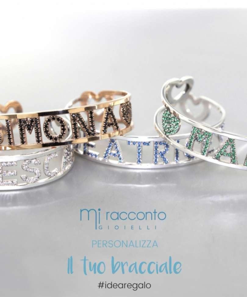Favorito Bracciale personalizzato con nome in argento (FINO A 8 LETTERE  DW59